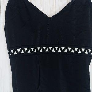 beach native Swim - Black and White one piece swimsuit size 10